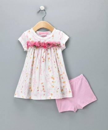 Baby Nay Trellis Vines Dress & Shorts - Infant & Toddler