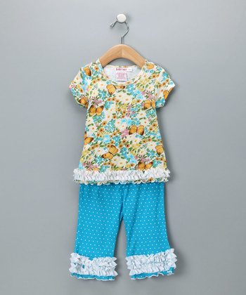 Baby Nay Vintage Butterfly Top & Pants - Infant & Toddler