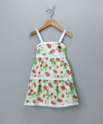 Baby Nay Strawberry Fields Lace Trimmed Dress