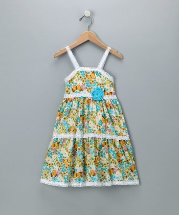 Baby Nay Vintage Butterfly Lace Trimmed Dress - Toddler & Girls