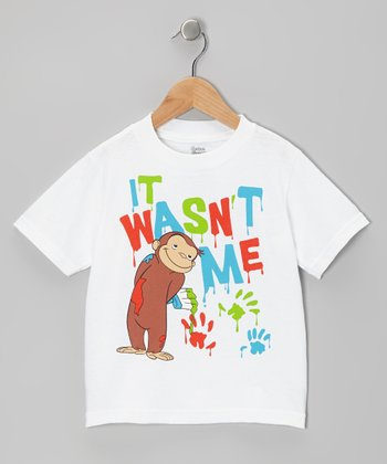 White Curious George 'It Wasn't Me' Tee - Toddler