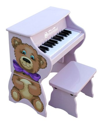 Purple 25-Key Piano Pals & Bench