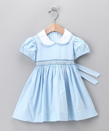 Light Blue Peter Pan Dress - Toddler