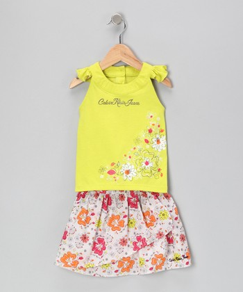 Lemon Daisy Top & Skirt - Infant & Toddler