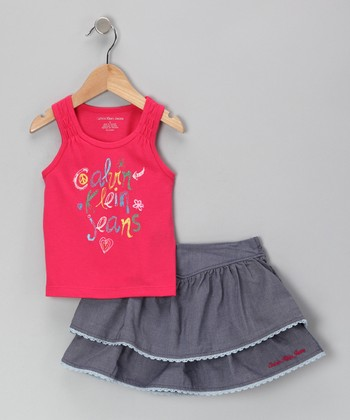 Fuchsia 'Calvin Klein' Tank & Skirt - Infant