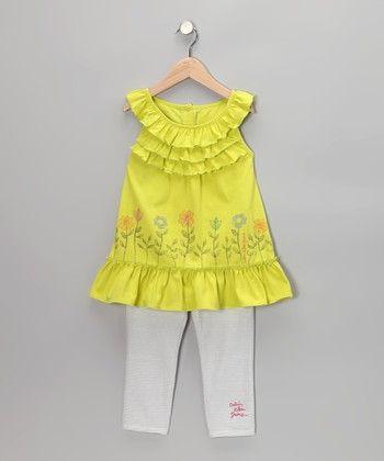 Lime Yoke Tunic & Leggings - Infant