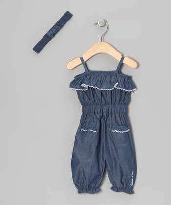 Chambray Jumpsuit & Headband