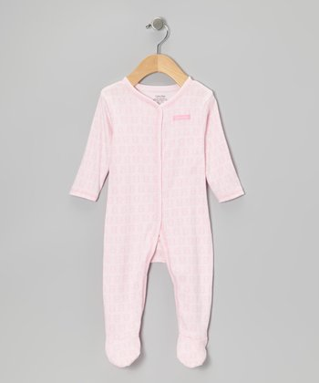 Light Pink Teddy Bear Footie