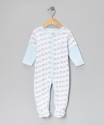 Light Blue Brand Layered Footie
