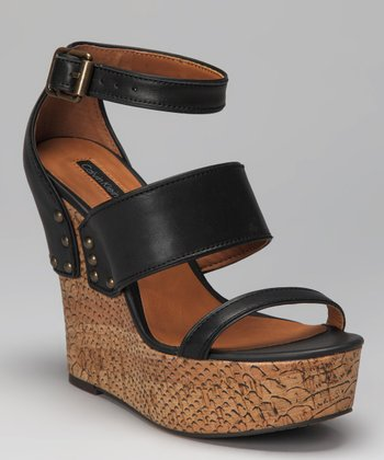 Black Baila Platform Wedge