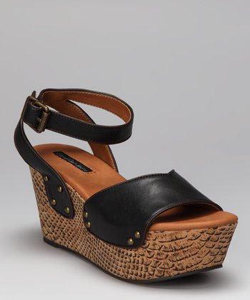 Black Calla Platform Wedge