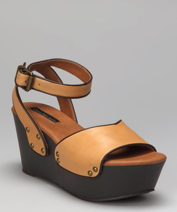 Yellow Calla Platform Wedge