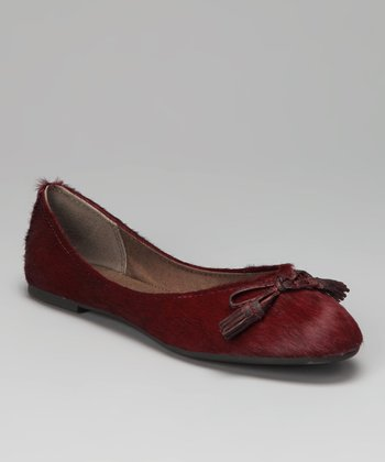 Berry Haircalf Timara Ballet Flat