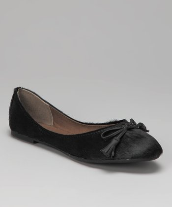 Black Haircalf Timara Ballet Flat