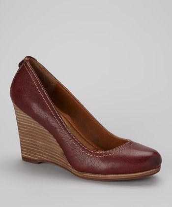 Dark Red Alesha Wedge