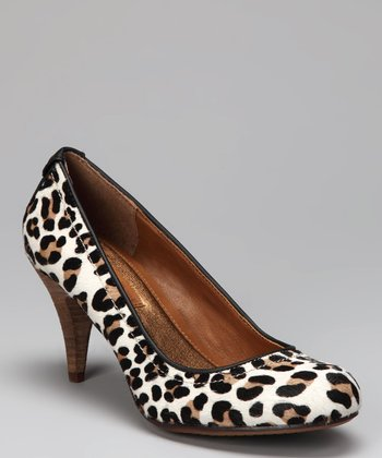 Black & White Leopard Haircalf Tressa Pump