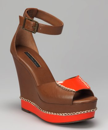 Brown & Orange Bedelia Wedge