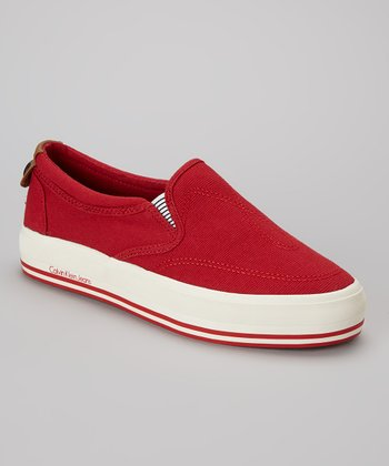 Red Gaia Slip-On Sneaker