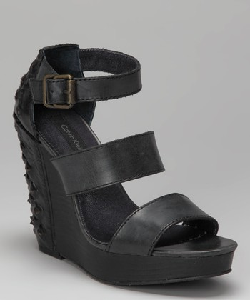 Black Hara Platform Wedge