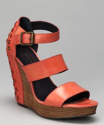 Orange Hara Platform Wedge