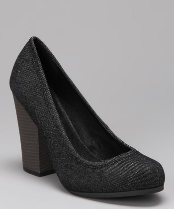 Black Denim Nichelle Pump