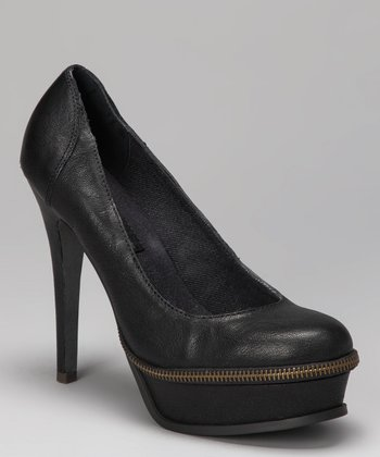 Dark Gray Gabby Platform Pump