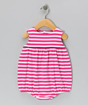 Pink Stripe Jersey-Knit Bubble Bodysuit - Infant