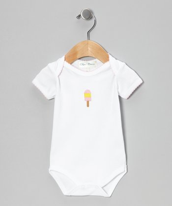 Pink Ice Pop Short-Sleeve Bodysuit - Infant