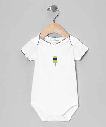 Blue Ice Pop Short-Sleeve Bodysuit - Infant