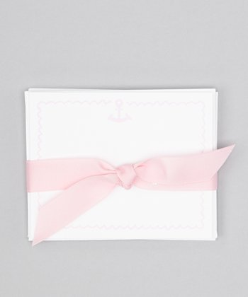 Pink Anchor Note Card Set
