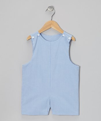 Blue Gingham Shortalls - Infant & Toddler