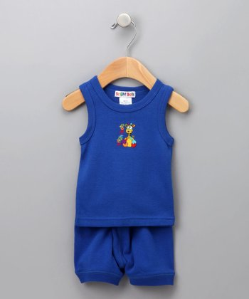 Royal Blue Tank & Shorts - Infant