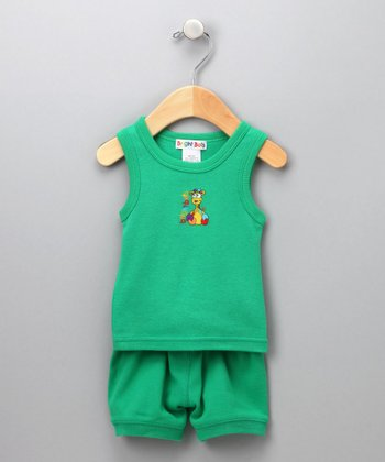 Green Tank & Shorts - Infant