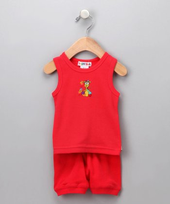 Red Tank & Shorts - Infant