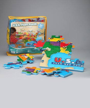 USA Map Foam Puzzle