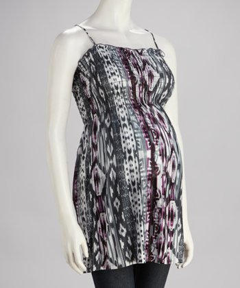 Blue Ikat Maternity Tank - Women