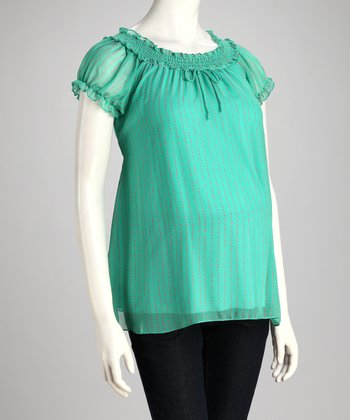Jade Shirred Maternity Top