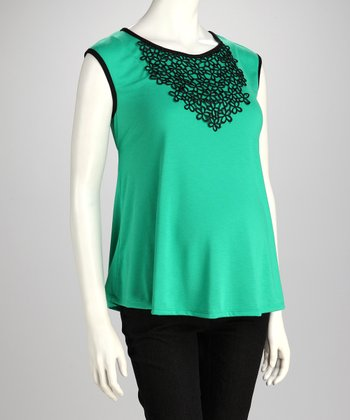 Jade Embroidered Maternity Cap-Sleeve Top