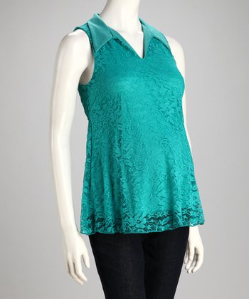 Jade Lace Overlay Maternity Top