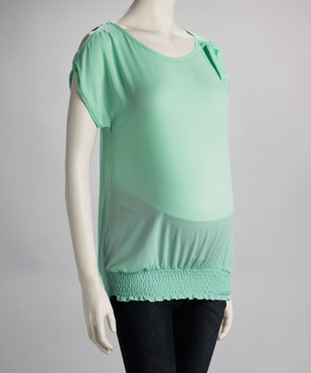 Mint Maternity Cutout Top