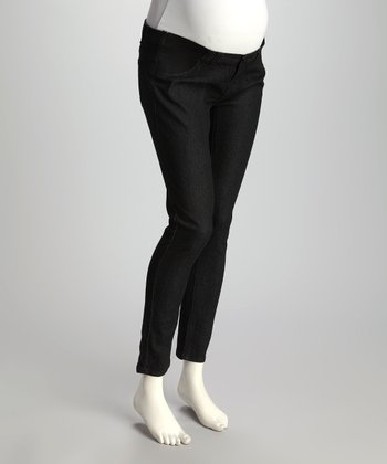 Black Under-Belly Maternity Denim Jeans