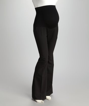 Black Over-Belly Maternity Trousers