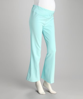 Light Blue Under-Belly Maternity Pants - Plus