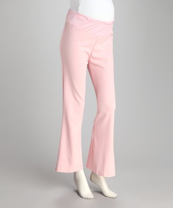 Pink Under-Belly Maternity Pants - Plus