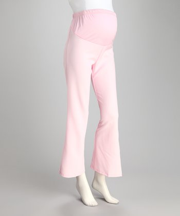 Light Pink Over-Belly Maternity Slacks