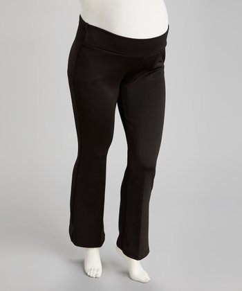 Black Under-Belly Maternity Pants - Plus