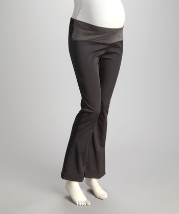 Gray Under-Belly Maternity Trousers - Plus