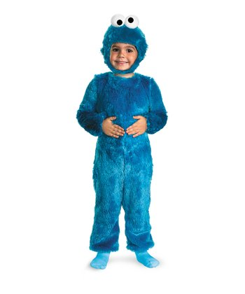 Blue Cookie Monster Faux Fur Dress-Up Set - Toddler & Kids