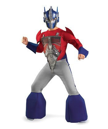 Blue & Red Optimus Prime Animated Deluxe Dress-Up Set - Boys
