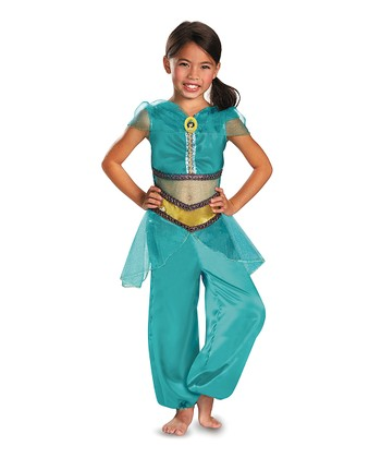 Teal Jasmine Sparkle Classic Dress-Up Outfit - Toddler & Girls